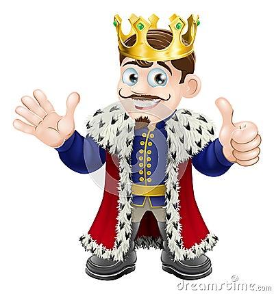 Cartoon King Mascot