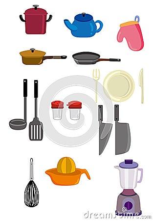 Cartoon kitchen icon