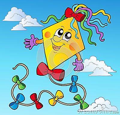 Cartoon Kite cartoon kite blue sky stock photos, images, & pictures ...