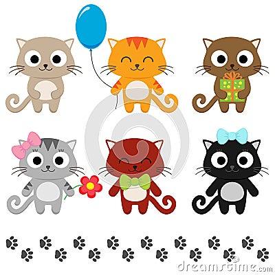 Free Cartoon Kittens Stock Photography - 56360462