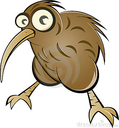 Cartoon kiwi bird