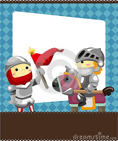 Cartoon knight card