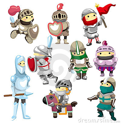 Free Cartoon Knight Icon Stock Images - 18829254