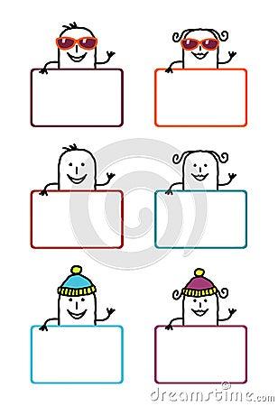 Cartoon labels 5