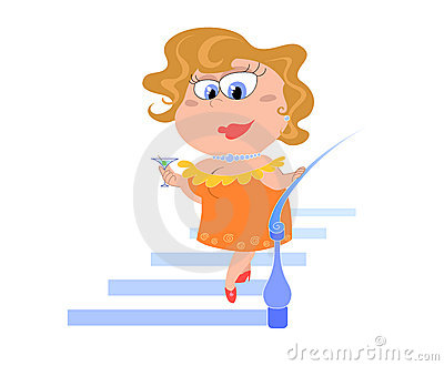 Cartoon lady  - vectorial illustration