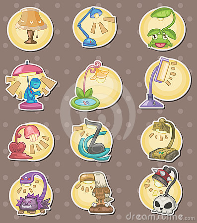 Cartoon Lamps stickers