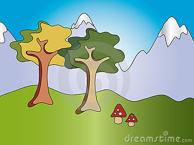 Cartoon landscape