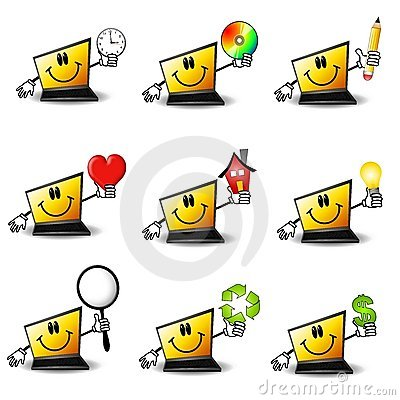 Free Cartoon Laptop Computers Royalty Free Stock Images - 4758189