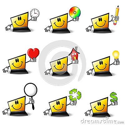 Cartoon Laptop Computers