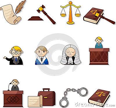Cartoon law icons