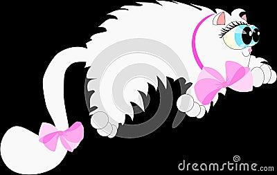 Cartoon lazy cat 2