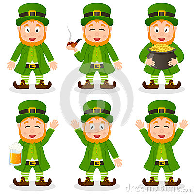 Cartoon Leprechaun St. Patrick s Day Set
