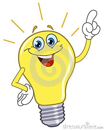 Free Cartoon Light Bulb Royalty Free Stock Photos - 17648518