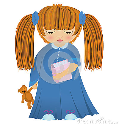 Cartoon little girl vector
