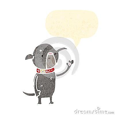 cartoon little pug dog waving