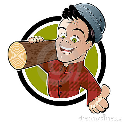 Cartoon lumberjack