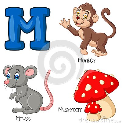 Free Cartoon M Alphabet Stock Photo - 123696870