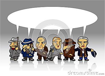 Cartoon mafia card