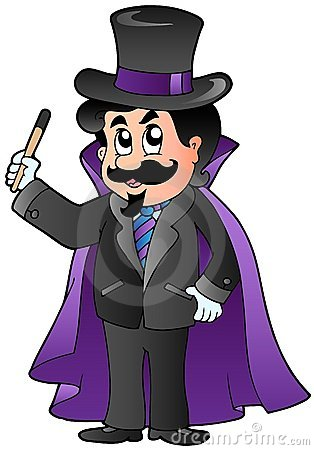 Cartoon magician