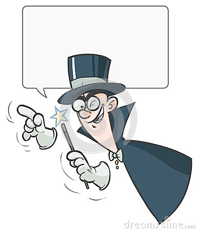 Cartoon Magician.