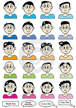 Cartoon Male Set_eps