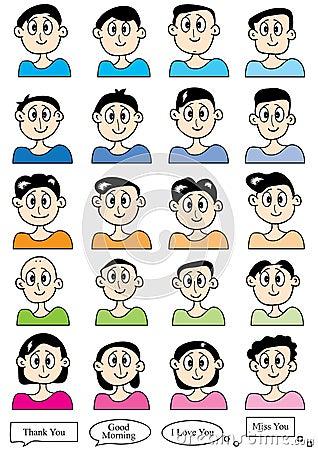 Cartoon Male Set_eps