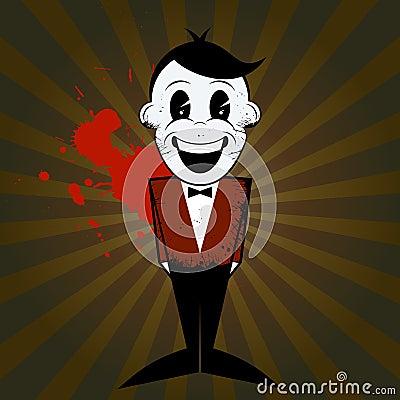 Cartoon man with bow tie