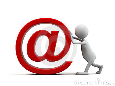 Cartoon Man With Email Symbol Stock Images Image 10616064
