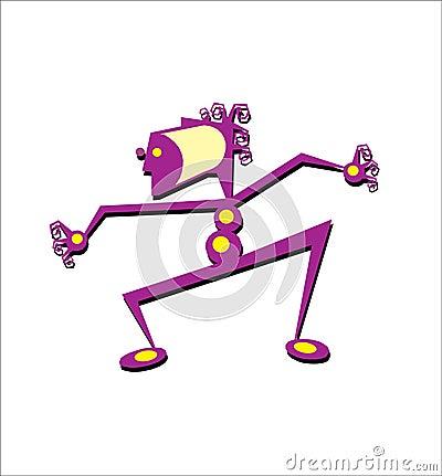 Cartoon man figure, vector