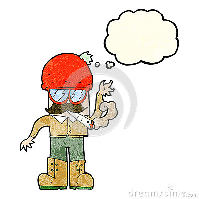 Cartoon Man Smoking Pot With Thought Bubble Stock ...