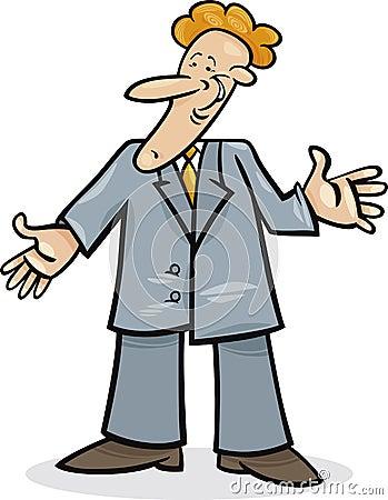 Cartoon man in suit
