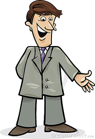 Cartoon man in suit