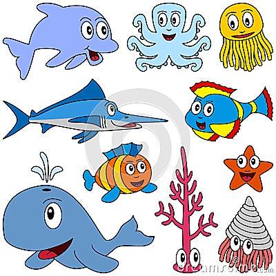 Cartoon Marine Animals Set [1]