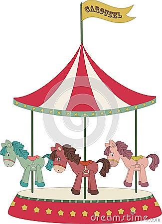 merry go round horse template - cartoon merry go round stock image image 26688221