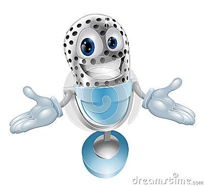 Cartoon microphone mascot