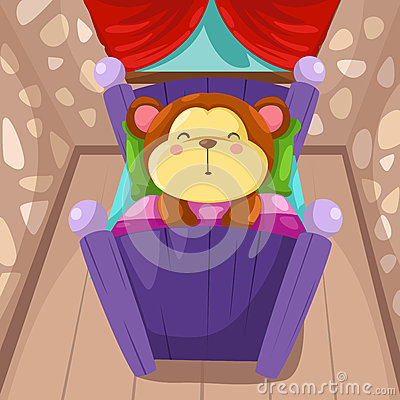 Cartoon monkey sleeping