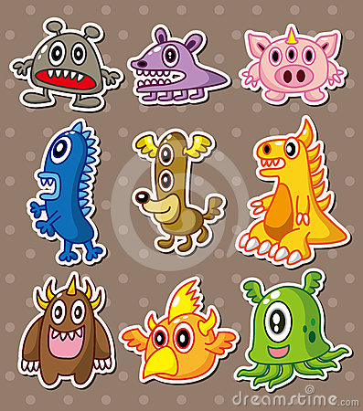 Cartoon monster stickers