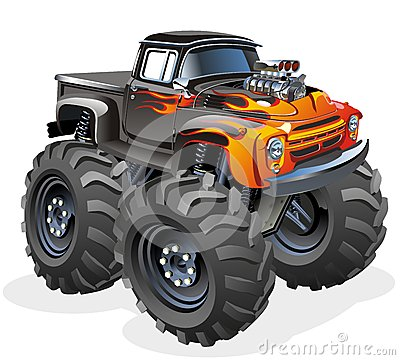 Free Cartoon Monster Truck Stock Images - 27778444
