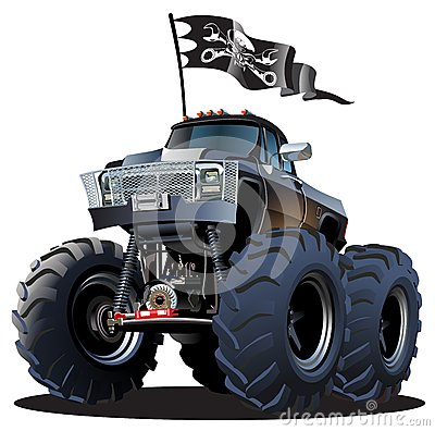 Free Cartoon Monster Truck Royalty Free Stock Photography - 34599087
