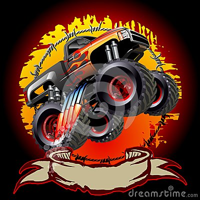 Free Cartoon Monster Truck Royalty Free Stock Images - 34599109