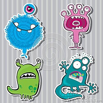 Free Cartoon Monsters Royalty Free Stock Photo - 20968305