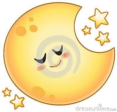 Free Cartoon Moon Stock Photos - 43893263