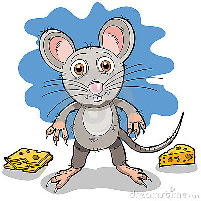 A cartoon mouse
