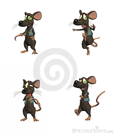 Free Cartoon Mouse - Pack 3 Royalty Free Stock Photography - 3284307