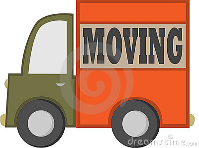 Cartoon Moving Truck Royalty Free Stock Photography - Image: 12978217