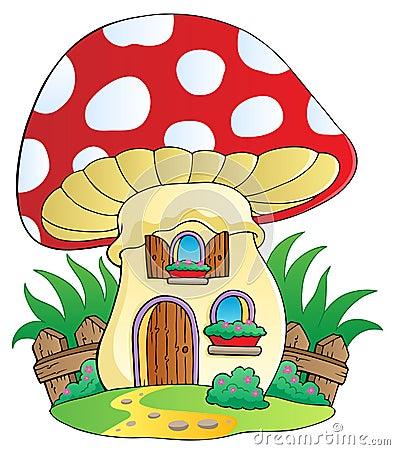 Free Cartoon Mushroom House Royalty Free Stock Photos - 24200508