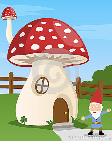Cartoon Mushroom House