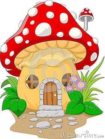 Free Cartoon Mushroom House Royalty Free Stock Photos - 56089128