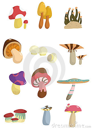 Cartoon mushroom icon