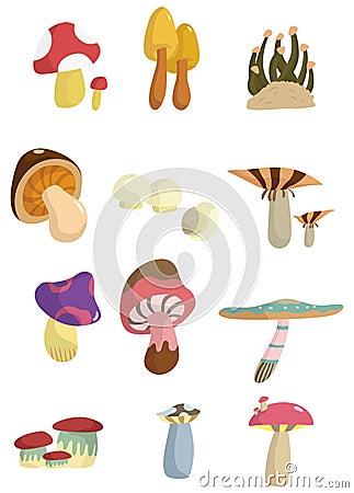 Cartoon mushroom icon